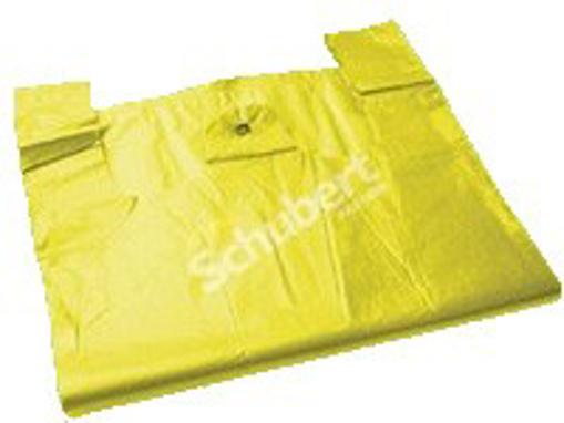 Obrázek z Taška HDPE (mikroten) žlutá odtrhávací 4 kg, 23 + 11 x 47 cm, 8 my, 2000 ks, G