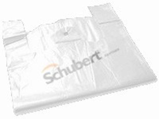 Obrázek z Taška HDPE (mikroten) bílá odtrhávací 10 kg, 30 + 16 x 53 cm, 9 my, 2000 ks, Partner