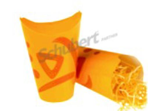 Obrázek z Kapsa papírová barevná s potiskem whizz na hranolky 400 ml, 1000 ks