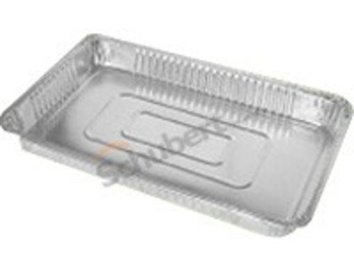 Obrázek z Miska hliníková gastronomická 1/1, 52,7 x 32,6 x 3,7 cm, 100 ks