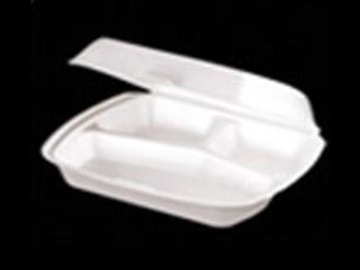 Obrázek z Menu box EPS bílý dělený na 2 části, 1 zámek, 24,5 x 21 x 7 cm, 250 ks