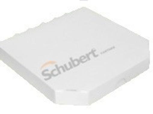 Obrázek z Pizza krabice bílá bez potisku 28 x 28 x 3,5 cm, 100 ks