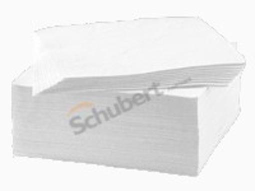 Obrázek z Ubrousky papírové dvouvrstvé bílé 24 x 24 cm, 250 ks