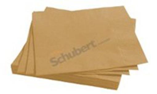 Obrázek z Ubrousky papírové dvouvrstvé béžové 24 x 24 cm, 250 ks