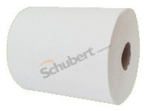 Obrázek z Ručník papírový dvouvrstvý bílý, celulóza,  maxi 19 x 19 cm, 108 m