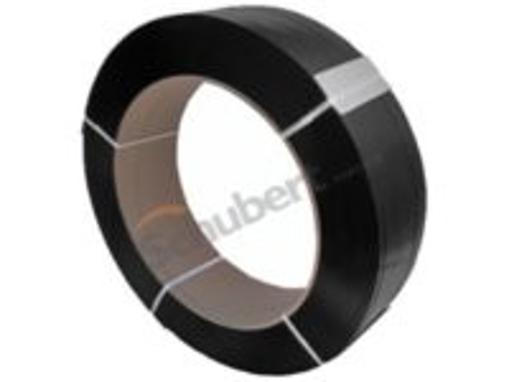 Obrázek z Vázací páska černá PP 12 mm, 0,55 mm, 3000 m, dutinka 200 mm