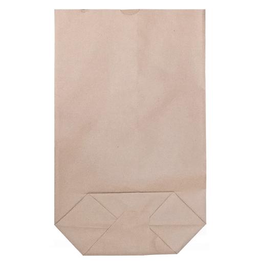 Obrázek z Sáček papírový kupecký hnědý 1 kg, křížové dno, 17 x 26,5 cm, 15 kg