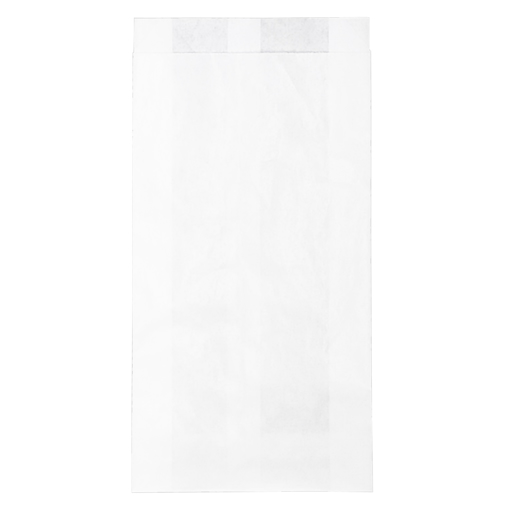 Obrázek z Sáček papírový svačinový bílý 0,5 kg, 12 + 4 x 24 cm, 1000 ks