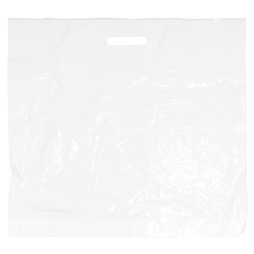 Obrázek z Taška LDPE bílá průhmat 55 x 5 x 60 cm, 250 ks