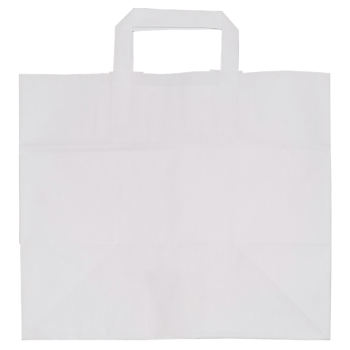 Obrázek z Taška papírová bílá 32 x 20 x 28 cm, 250 ks