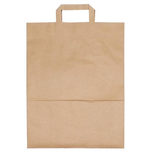 Obrázek z Taška papírová hnědá 32 x 17 x 44 cm, 250 ks