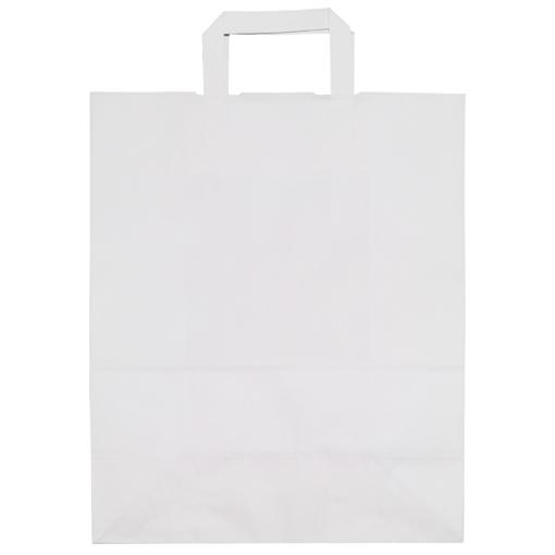 Obrázek z Taška papírová bílá 32 x 16 x 40 cm, 200 ks