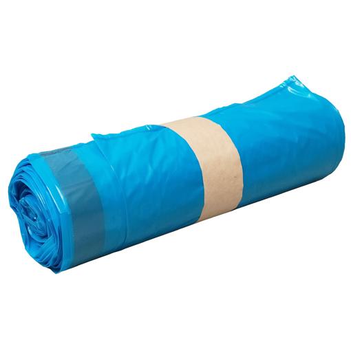 Obrázek z Pytel LDPE modrý zatahovací 70 x 100 cm, 120 l, 60 my, 250 ks