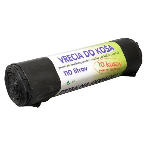 Obrázek z Pytel HDPE (mikroten) černý 70 x 110 cm, 120 l, 20 my, 10 ks